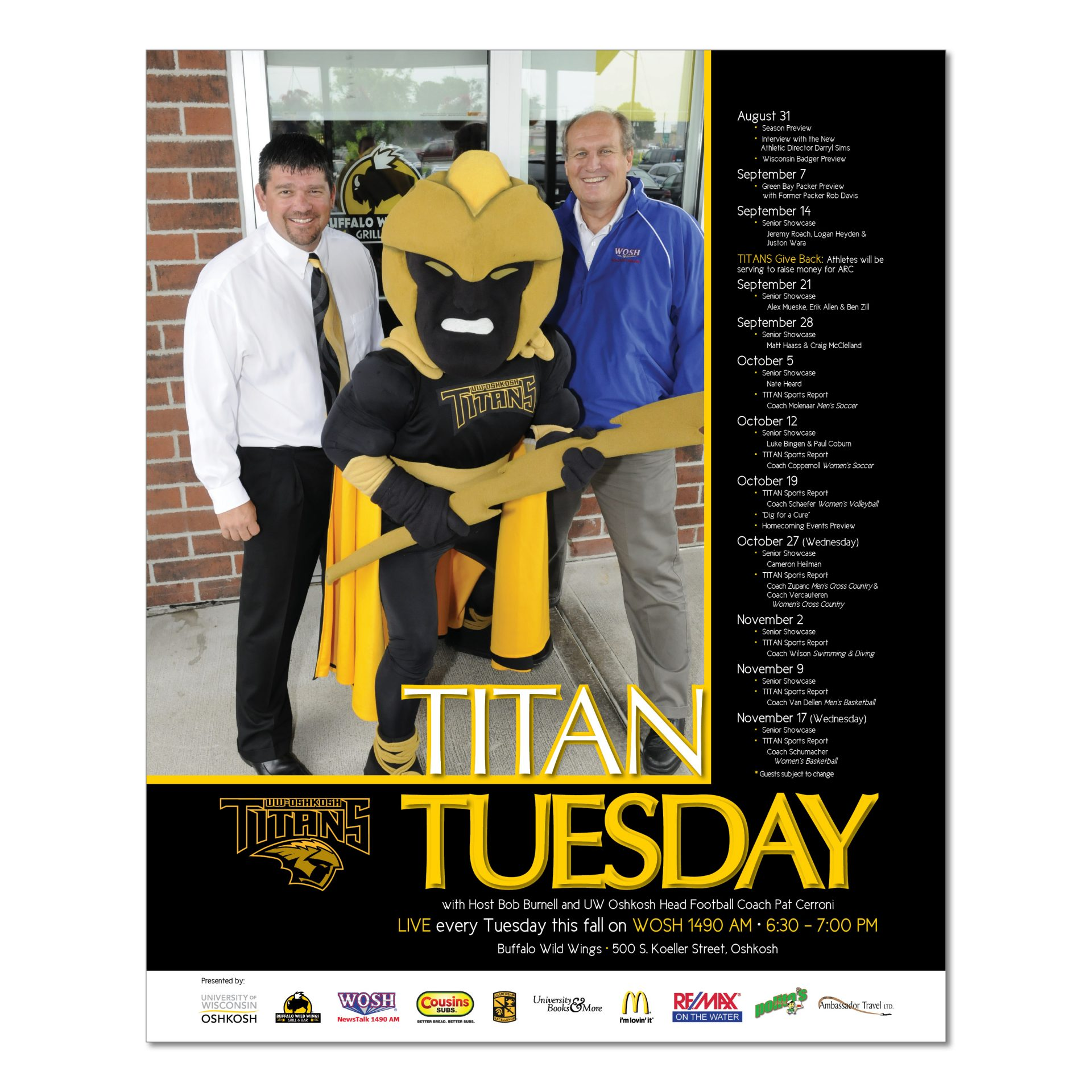 2011 | UW Oshkosh Athletic Department | poster