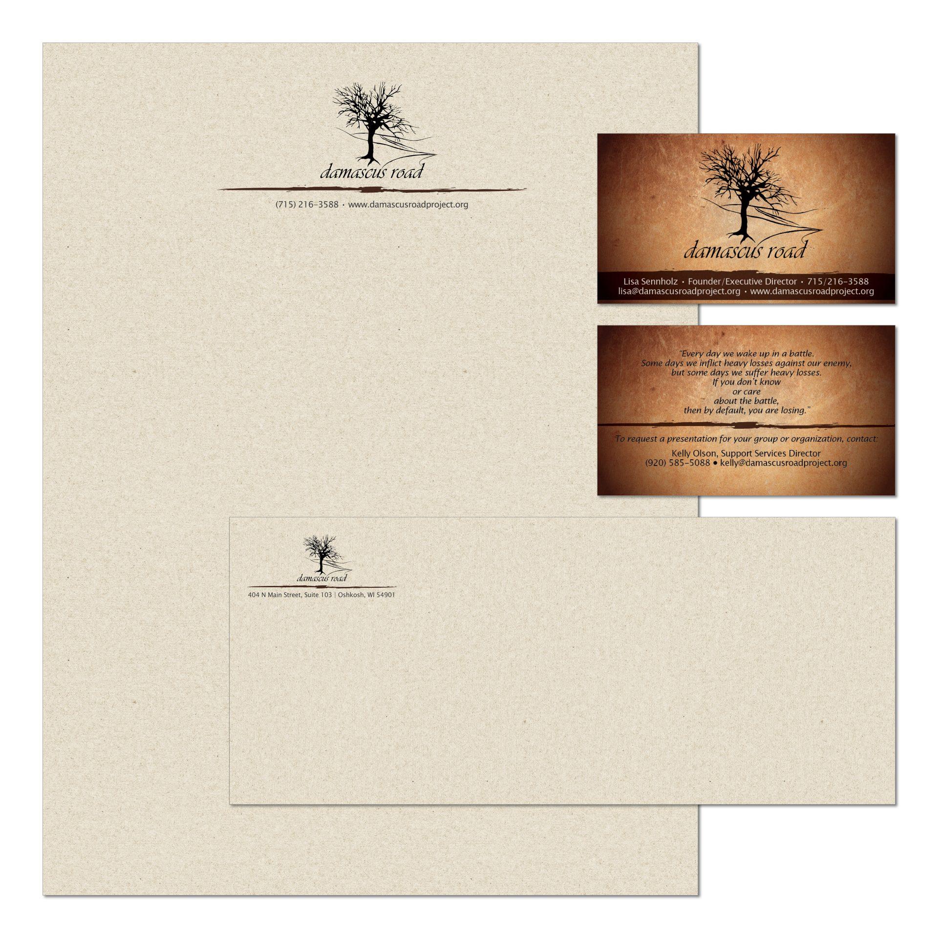 2013 | Damascus Road Project | logo, business card, letterhead, envelope