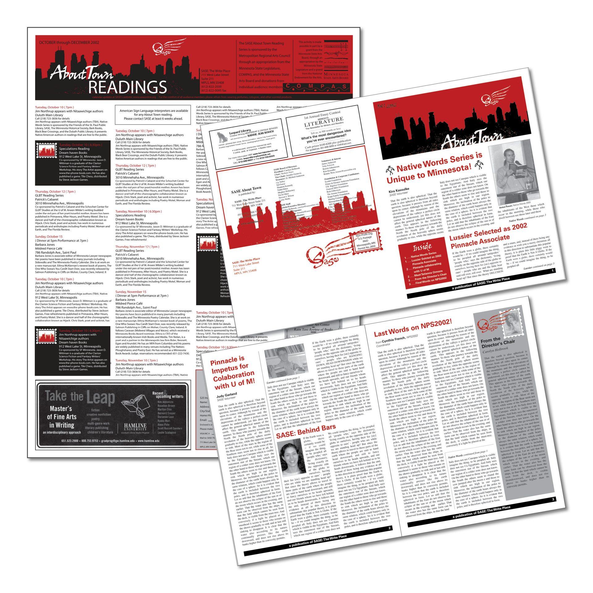 2002   SASE   newsletter and calendar