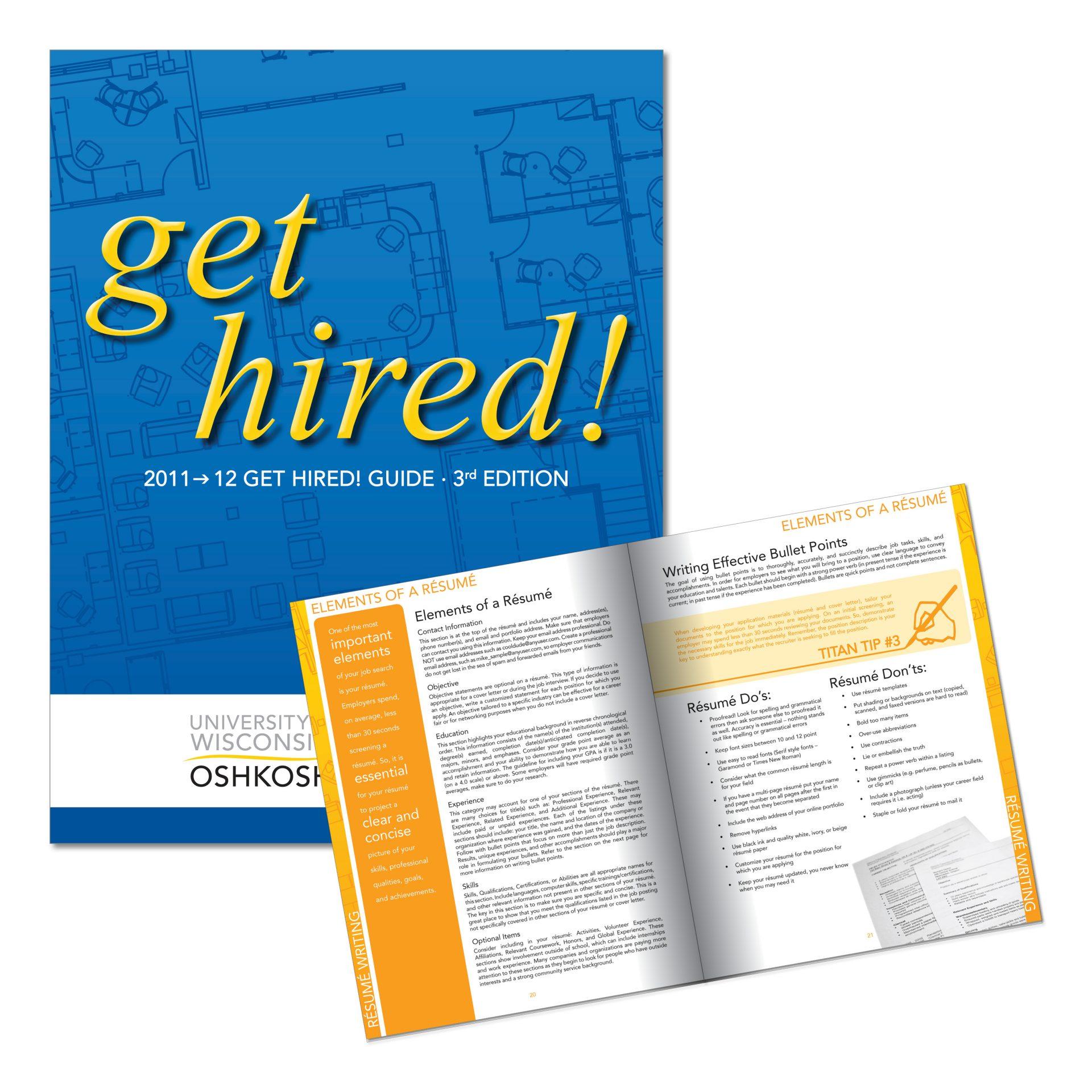 2011 | UW Oshkosh Career Services | 80 page textbook